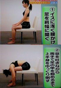 腰痛予防ストレッチ